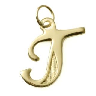 Zlatý přívěsek písmeno T ZZ10.T