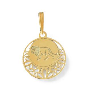 Zlatý přívěsek znamení Lev kolečko 000.00112
