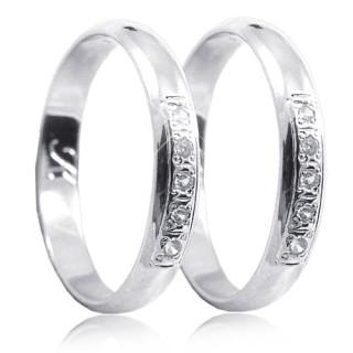 Snubní prsteny bílé zlato 04.K61