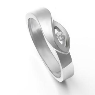 Zlatý prsten se zirkonem 226021990
