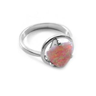 Stříbrný prsten s opálem v kruhovém úchytu 840.00174