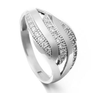 Zlatý prsten se zirkony 010.00217