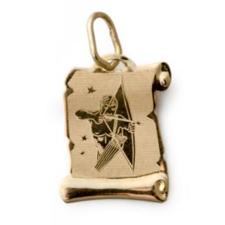 Zlatý přívěsek znamení Střelec pergamen 000.00069