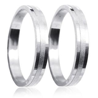Snubní prsteny z bílého zlata 04.A25