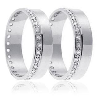 Snubní prsteny - bílé zlato 04.B730
