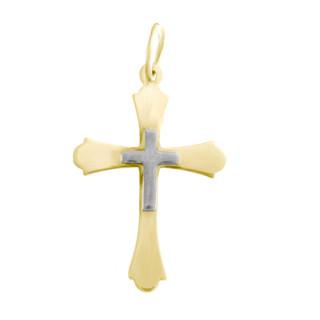 Zlatý přívěsek křížek 000.00034
