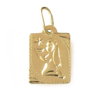Zlatý přívěsek znamení Panna destička malá 000.00132