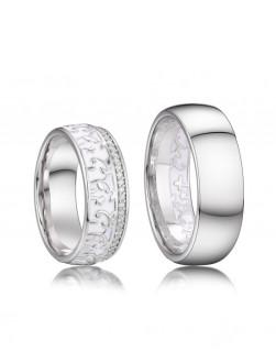 Stříbrné snubní prsteny Rhett a Scarlett 037