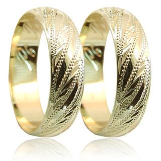 Snubní prsteny ze žlutého zlata P6R3