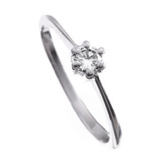 Stříbrný prsten zásnubní se zirkonem 010.00013