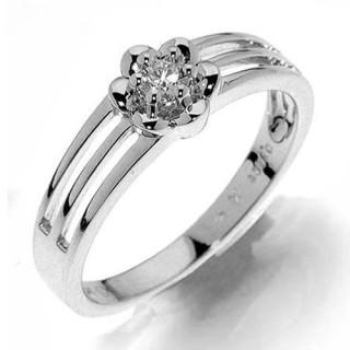 Luxusní prsten z bílého zlata s diamantem Oxana 990.386-1198