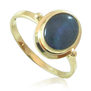Zlatý prsten s australským opálem žluté zlato 840.00013