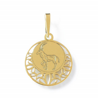 Zlatý přívěsek znamení Kozoroh kolečko 000.00121