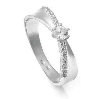 Zlatý zásnubní prsten se zirkony ZZ11.224020254