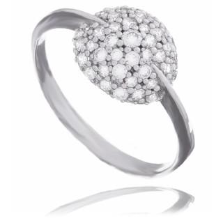 Elegantní zlatý prsten zirkonová půlkoule 1302301