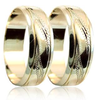 Snubní prsteny v kombinaci zlata 04.A22