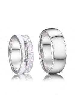 Stříbrné snubní prsteny Ron a Hermiona 04.039