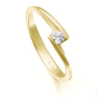 Zlatý zásnubní prsten se zirkonem ZZ10.226022133