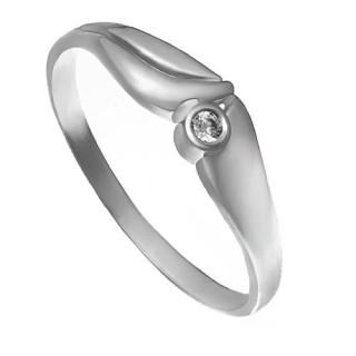 Zlatý zásnubní prsten s kamínkem 226022020