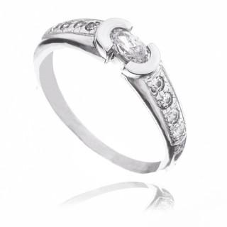 Zlatý prsten se zirkony 010.00183