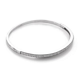 Stříbrný pevný náramek se zirkony Beneto AGB02 010.00001