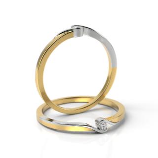 Zlatý zásnubní prsten s diamantem 05.1852