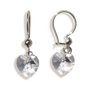 Stříbrné náušnice s krystaly Swarovski 10020002