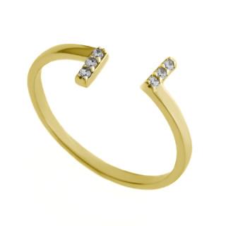 Zlatý prsten se zirkony 010.00335