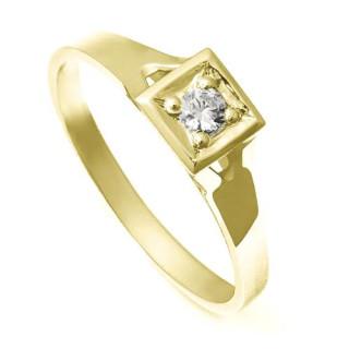 Zlatý zásnubní prsten se zirkonem ZZ10.223020123
