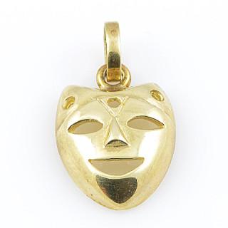 Zlatý přívěsek maska 000.00009
