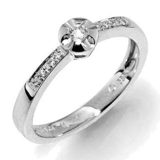 Prsten z bílého zlata s diamanty Gems Iris 990.386-1275