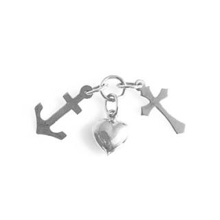 Stříbrný přívěsek kotva, srdce, kříž-štěstí,víra a naděje 000.00001