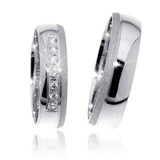 Snubní prsteny z bílého zlata s diamantem 04.G0316D