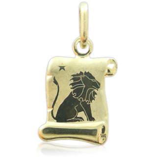 Zlatý přívěsek znamení Lev žluté zlato pergamen 000.00091