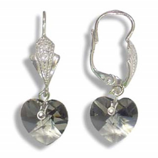 Stříbrné náušnice s krystaly Swarovski 10020034