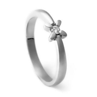 Zlatý zásnubní prsten se zirkonem 226022291