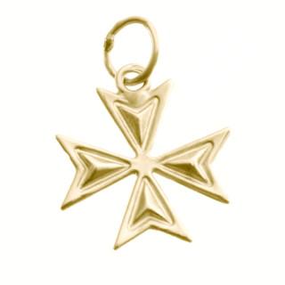 Zlatý přívěsek maltézský kříž chopper ZZ1513.P10