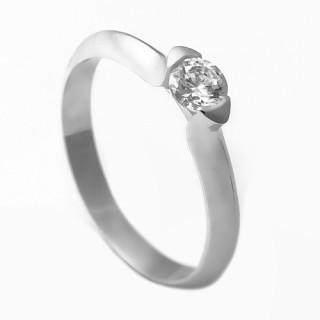 Zlatý zásnubní prsten se zirkonem 223021202