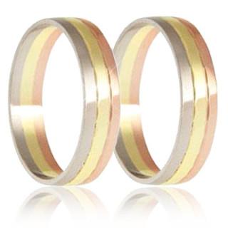 Snubní prsteny - kombinace zlata 04.B257