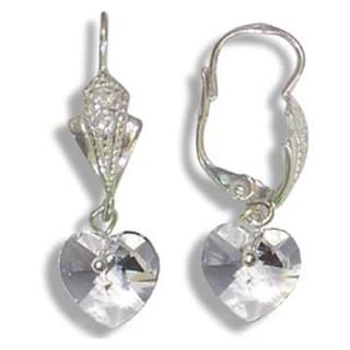Stříbrné náušnice s krystaly Swarovski 10020032