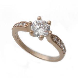 Zlatý zásnubní prsten růžové zlato 05.2303201