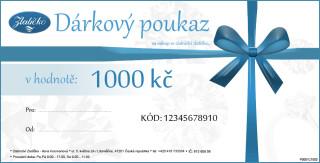 Dárkový poukaz v ceně 1000Kč DP01000