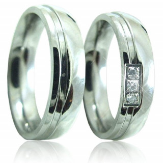 Ocelové snubní prsteny RI5345A