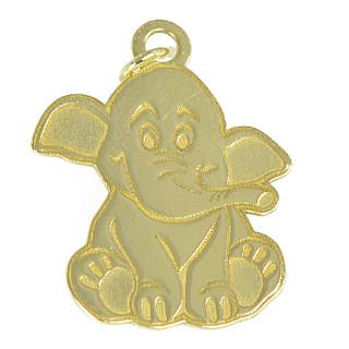 Zlatý přívěsek sloník PA0753