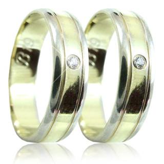 Snubní prsteny v kombinaci zlata 04.B19