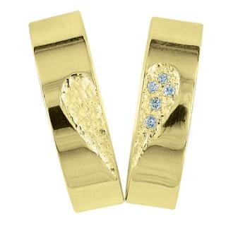 Snubní prsteny - žluté zlato 04.HDIA01