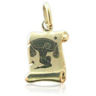 Zlatý přívěsek znamení Váhy žluté zlato pergamen 000.00090