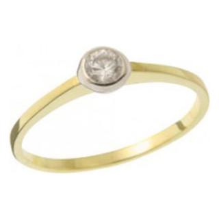 Zásnubní prsten ze žlutého zlata 05.B226871