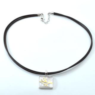 Stříbrný náhrdelník Swarovski čtverec  se stromem 4938840925005 190.00006