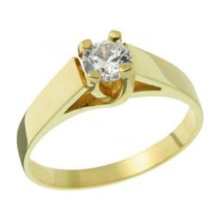 Zlatý zásnubní prsten se zirkonem 05.B226864